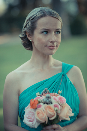 teal bridesmaid dress An Outdoor Wedding in Tuscany, Italy