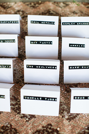 unique wedding place cards