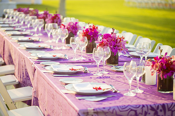 tropical purple weddings