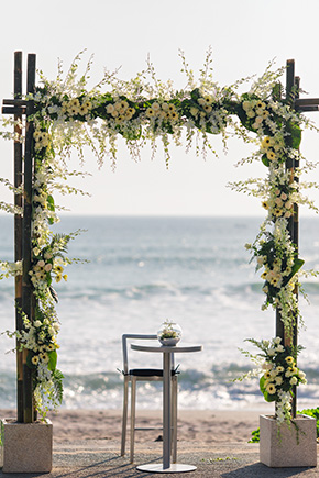 white tropical weddings