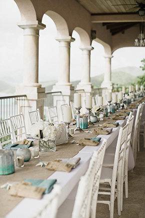 beach wedding tables