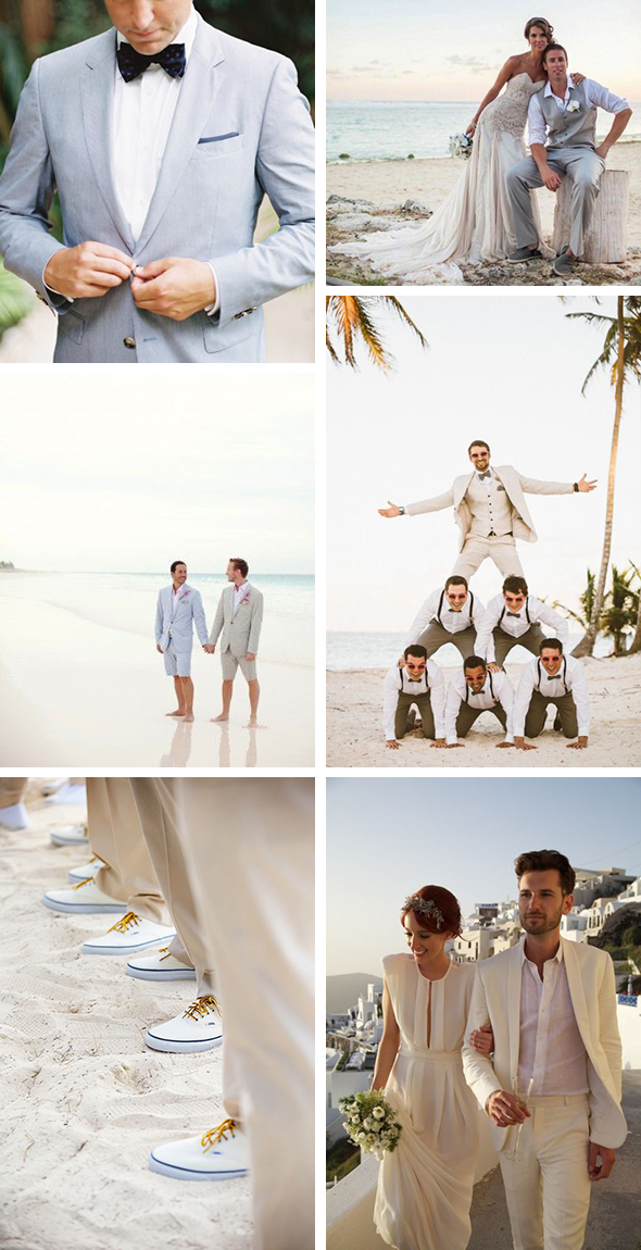 beach wedding groom suit