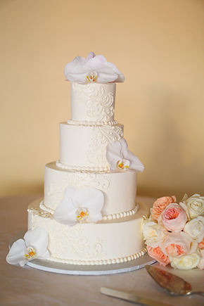 destination wedding cake