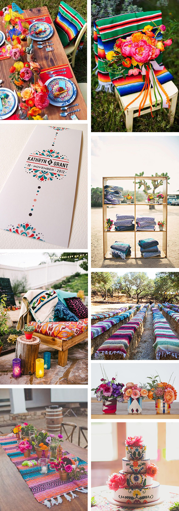 mexican blanket wedding details