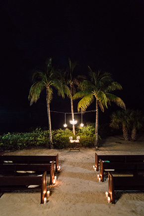 beach night wedding