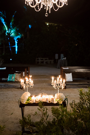 beach wedding candles