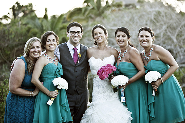 bridesmaid dresses teal