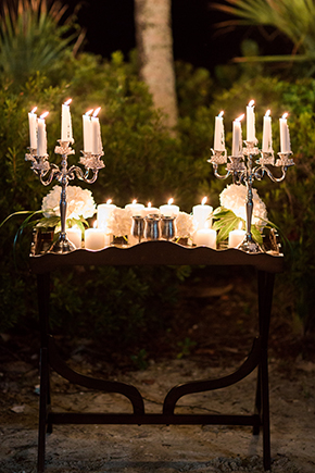 candlelit weddings