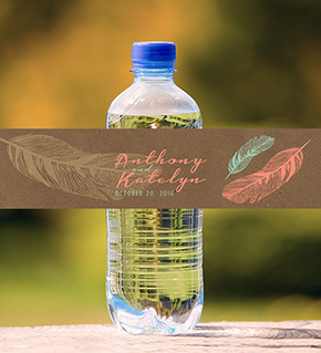 custom wedding water bottles