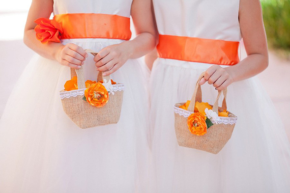 flower girl purses burlap