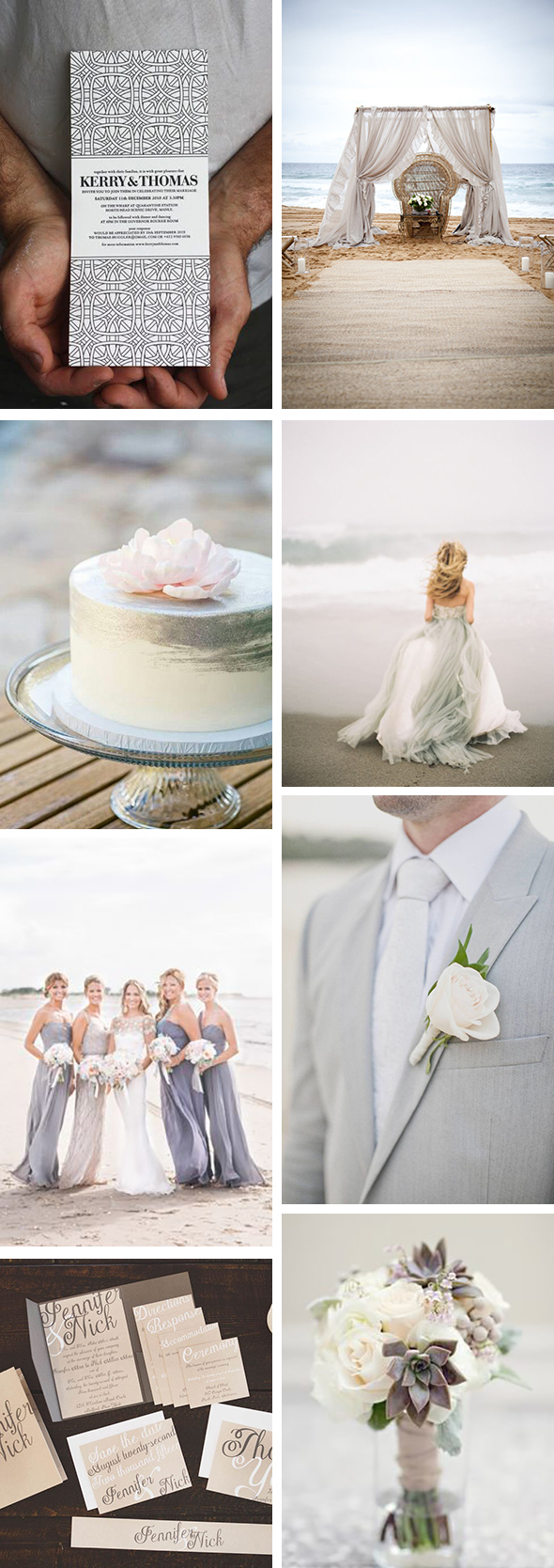 grey beach weddings