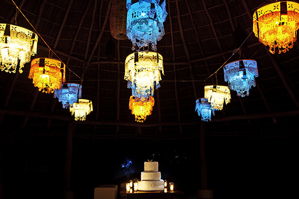 mexico wedding lanterns