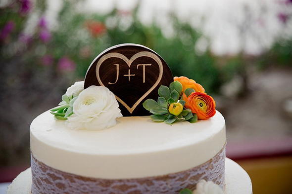 rustic cake toppers