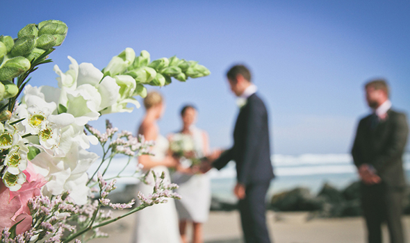 au beach wedding