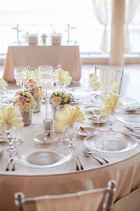 cream and blush weddings