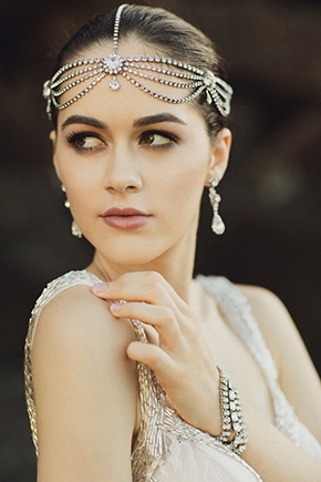 formal wedding headpiece