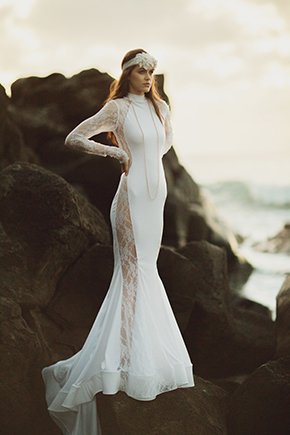 Destination wedding dresses fashion shoot in hawaii the for Wedding dresses for hawaii