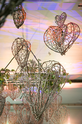 heart lanterns wedding