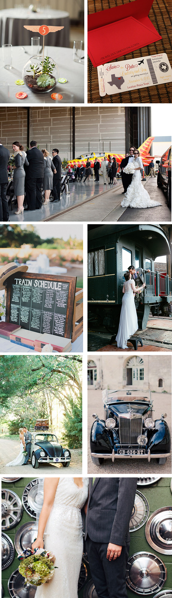 planes, trains, and automobile weddings