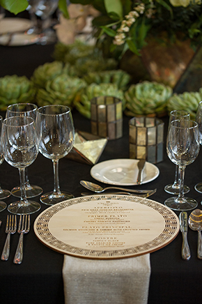 round wedding menu