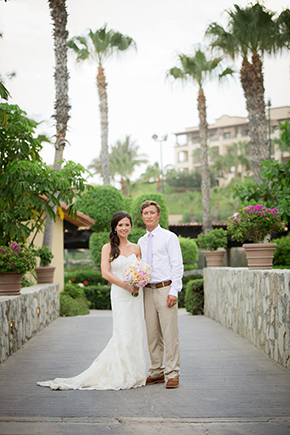 Pretty Pastel Beach Wedding In Cabo San Lucas Mexico