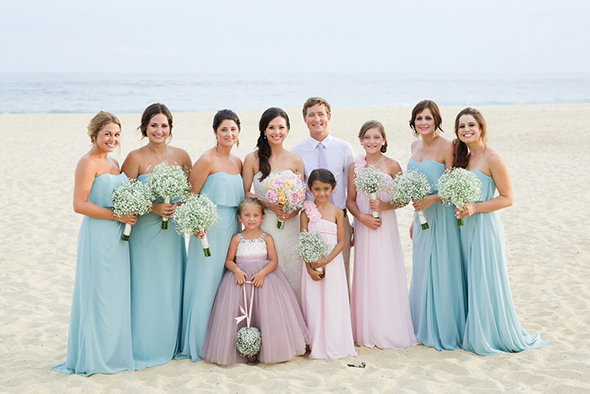 Pretty pastel beach wedding in cabo san lucas mexico bridesmaid robes pastel bridesmaid dresses pale blue bridesmaid dresses pastel weddings beach junglespirit