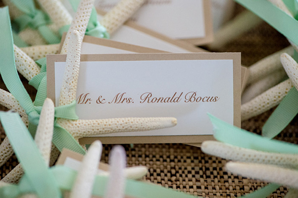 destination wedding place card