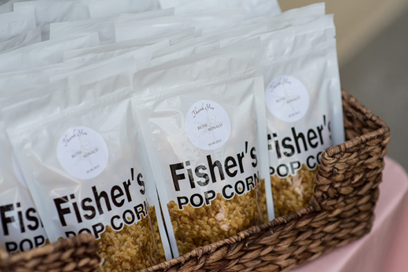pop corn wedding favors