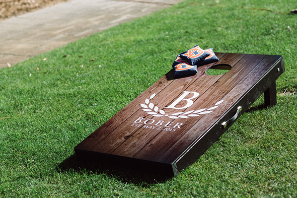 wedding custom corn hole