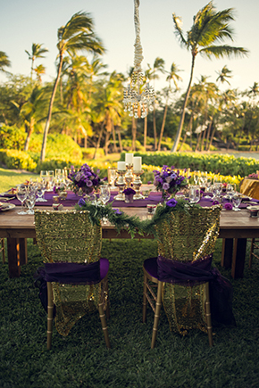 gold and purple weddings