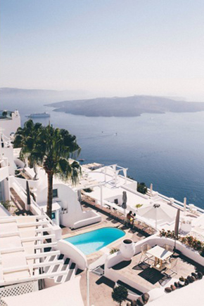 Santorini destination wedding hotel