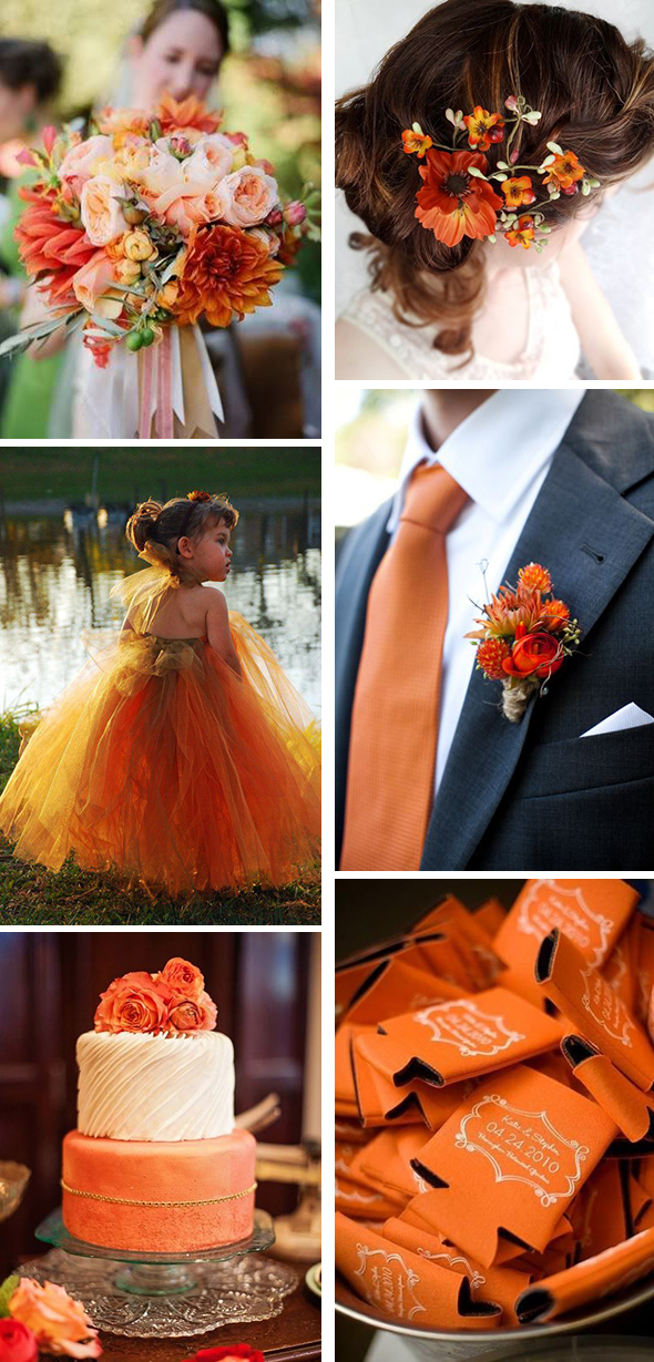 burnt orange weddings