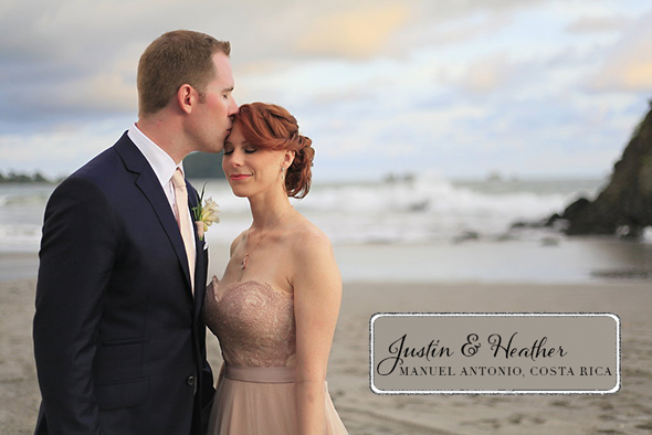 Costa Rica Beach Wedding With A Blush Wedding Dress The - Blush Beach Wedding Dress