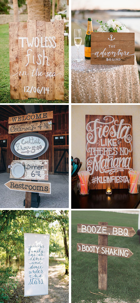 unique destination wedding signs