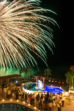 wedding fireworks mexico