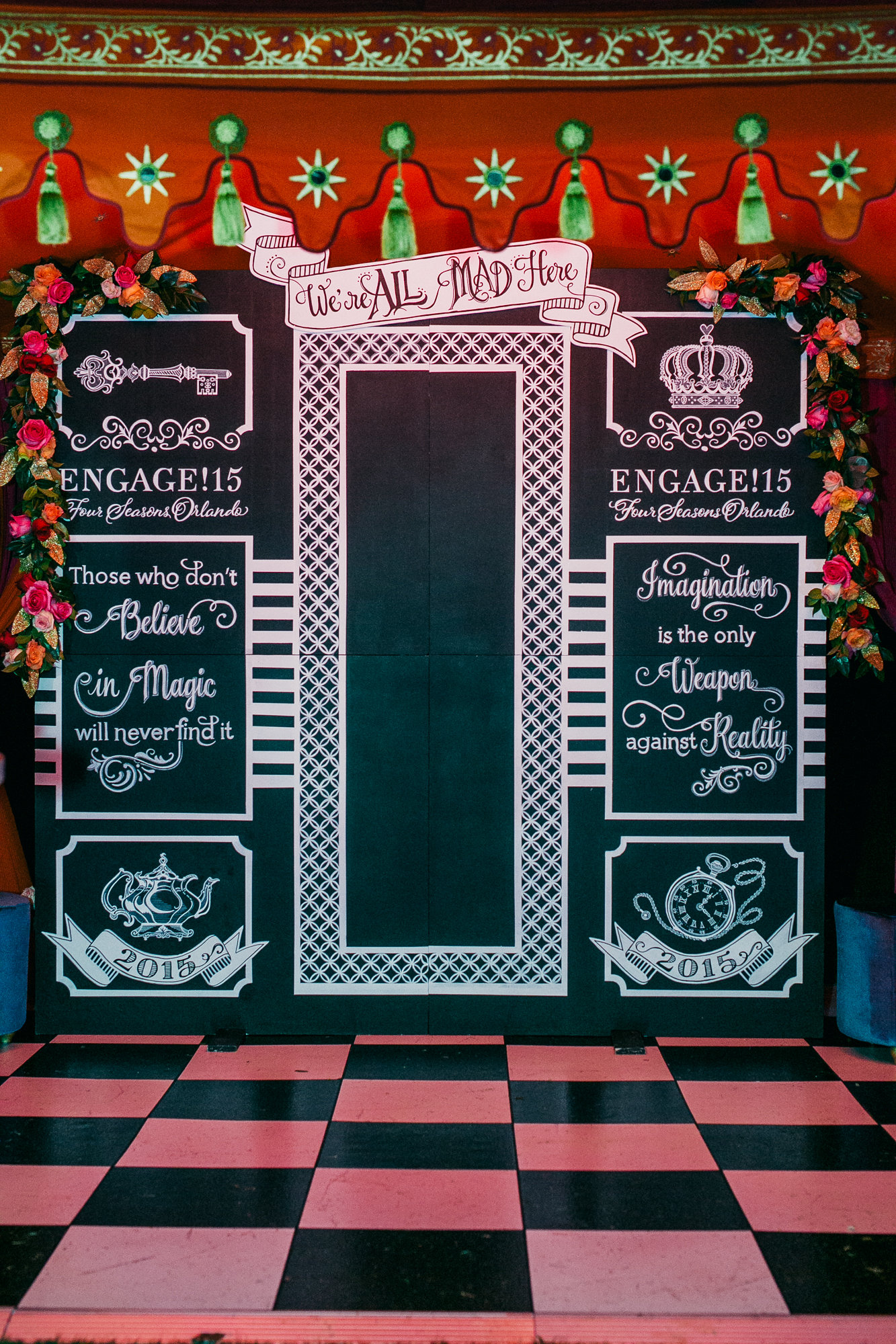chalkboard wedding backdrop
