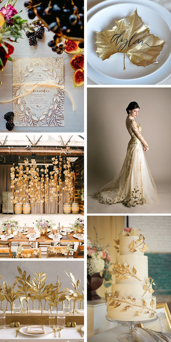 gold leaf weddings