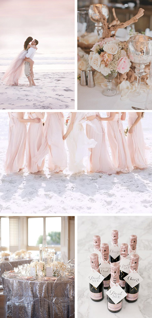 blush pink beach wedding