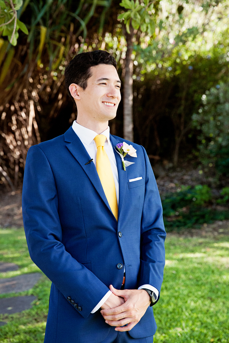 navy blue groom suit