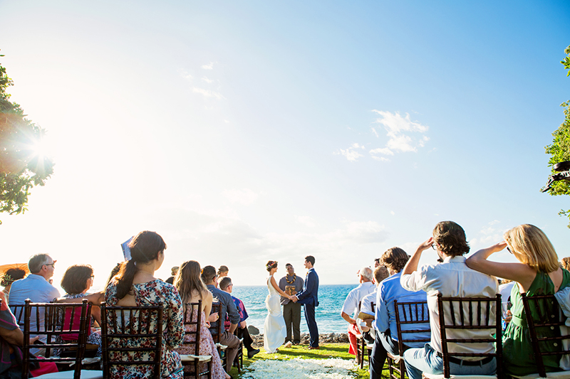 ocean view wedding maui