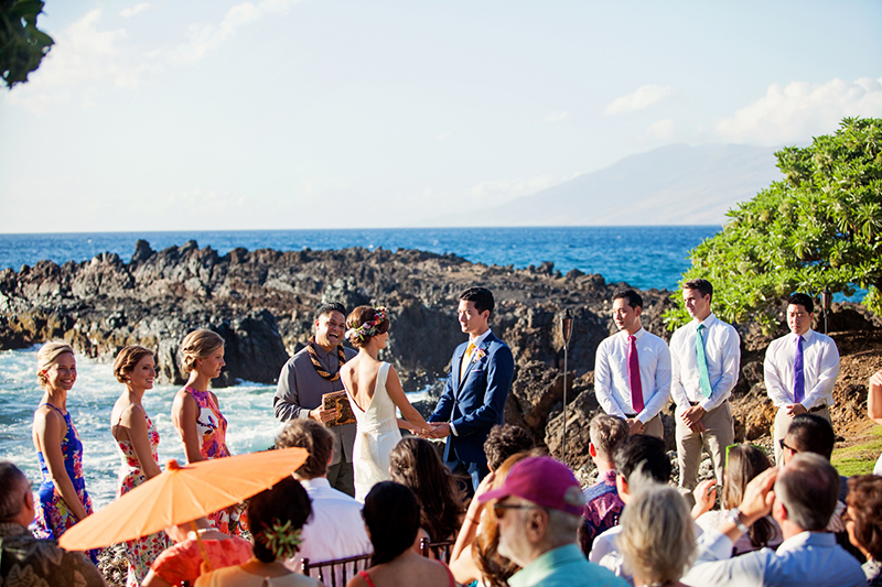 seaside wedding maui