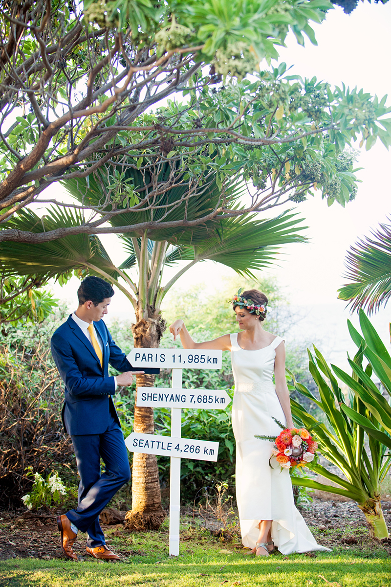 tropical wedding maui
