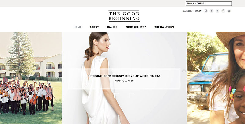 wedding registry charities