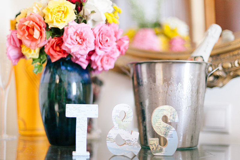 monogram wedding