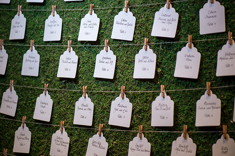 unique escort card display