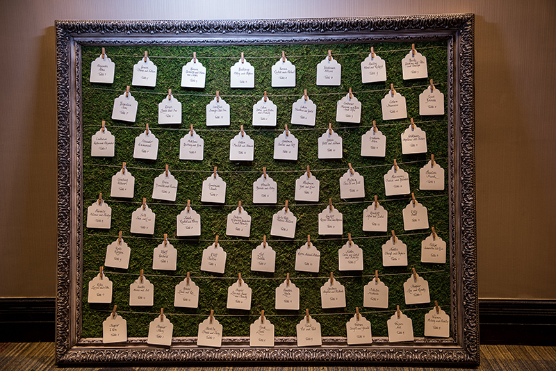 unique escort card displays