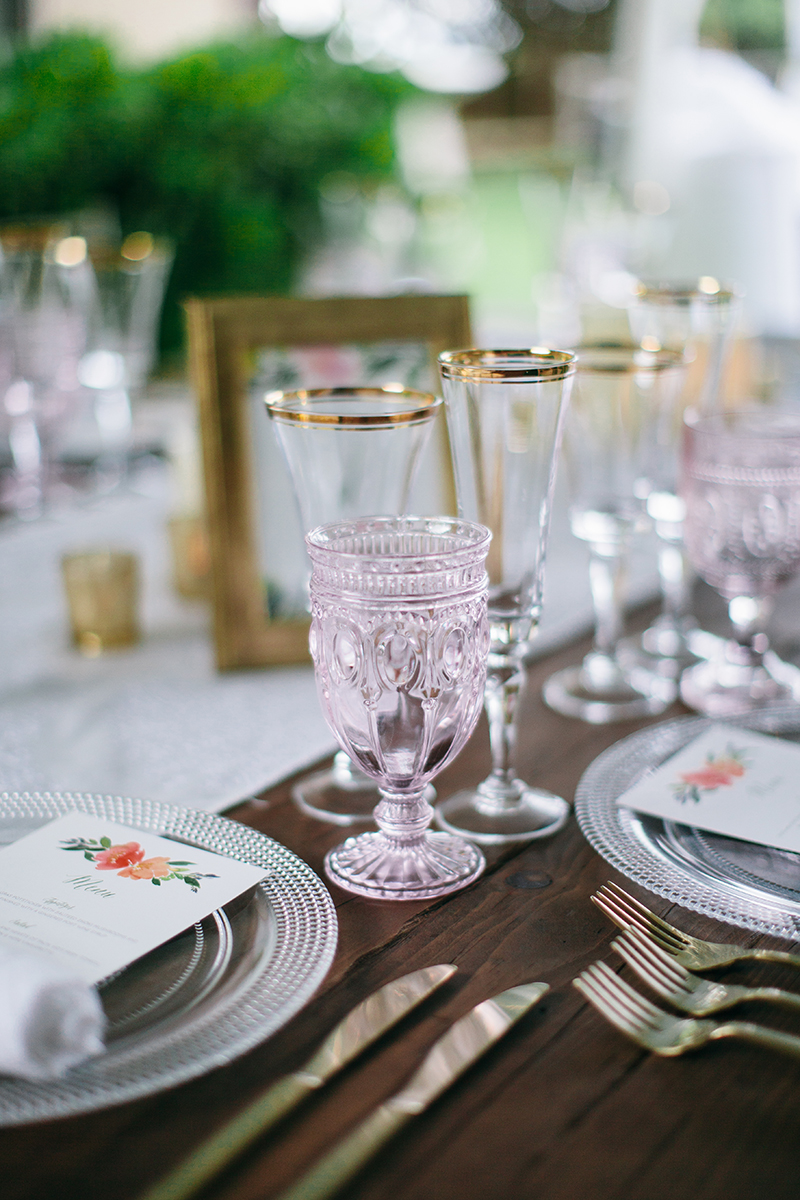 custom glass wedding rentals