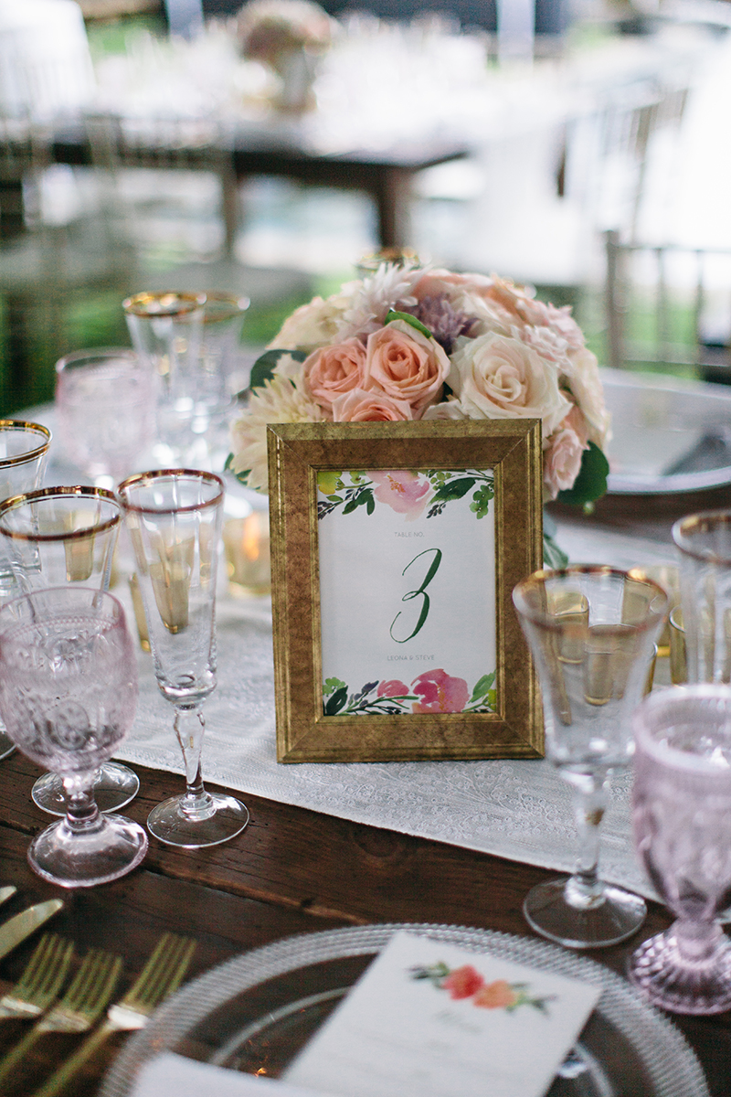 hand painted table names