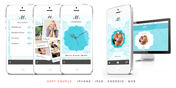 appy couple wedding websites