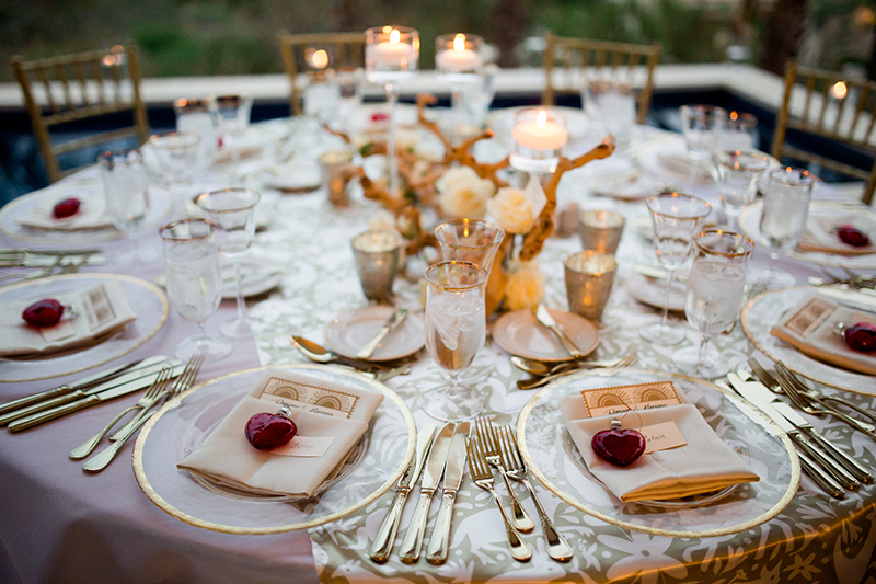 gold-red-white-wedding